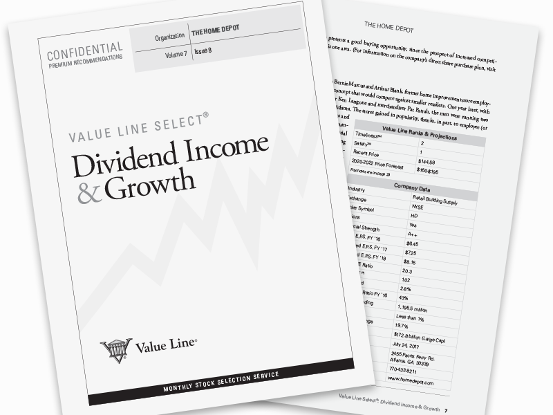 Value Line ® Select:  Dividend Income and Growth