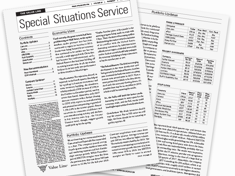 The Value Line Special Situations Service®